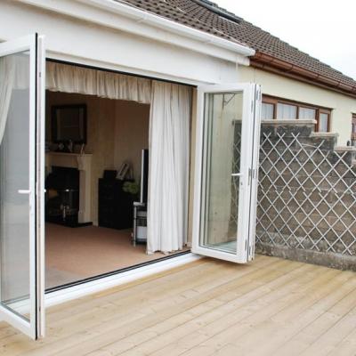 Open bifold door