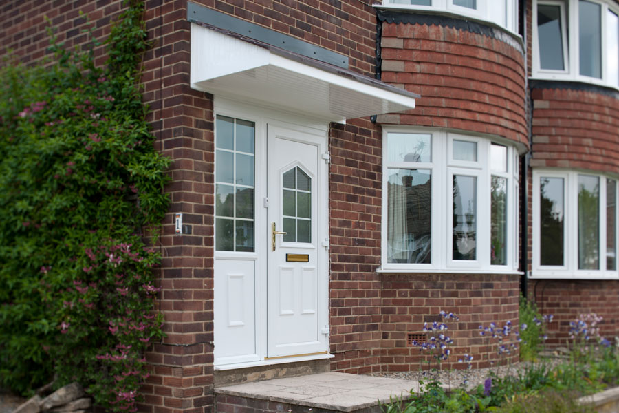 White PVC entrance door